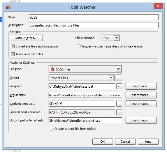 Edit watcher in PhpStorm